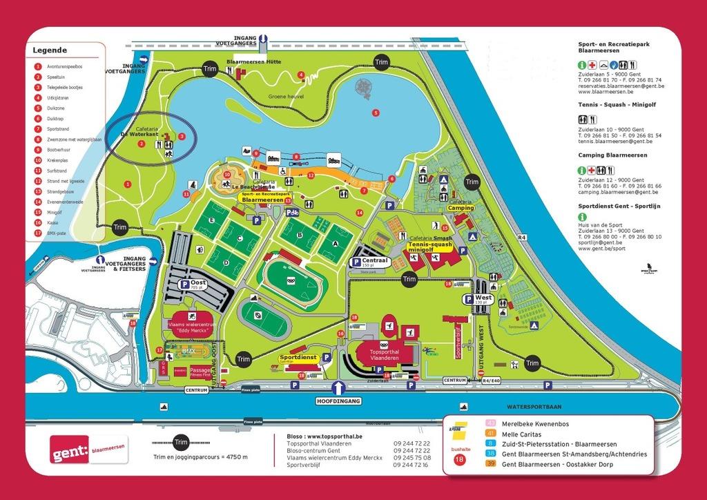 De Blaarmeersen, recreation park at walking distance