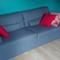 Chambre enfant avec double lit clic-clac.