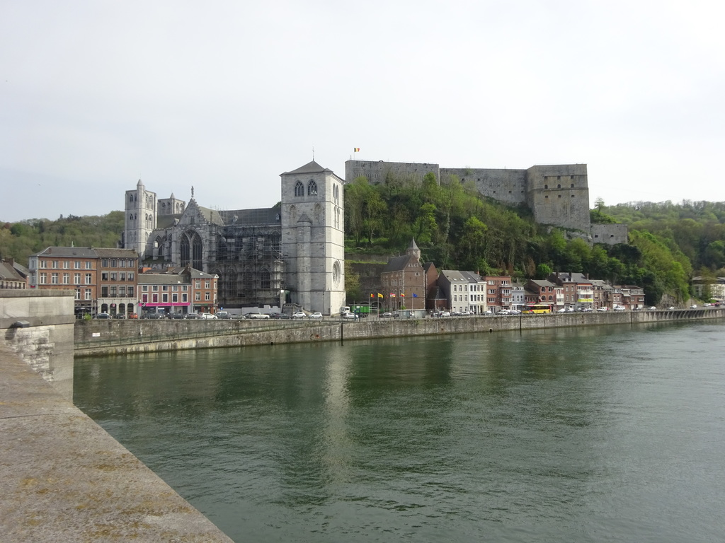 Collégiale and Fort overlooking the river Meuse