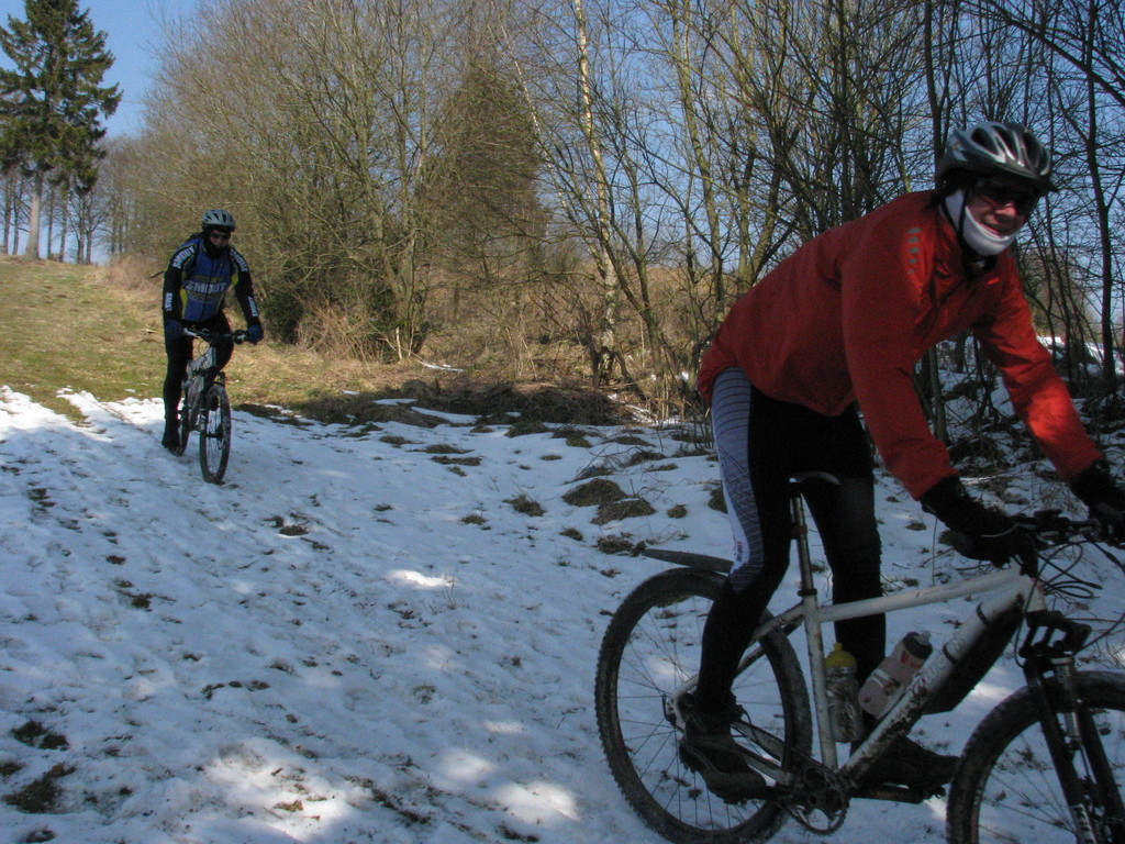 MTB, the die hards in winter