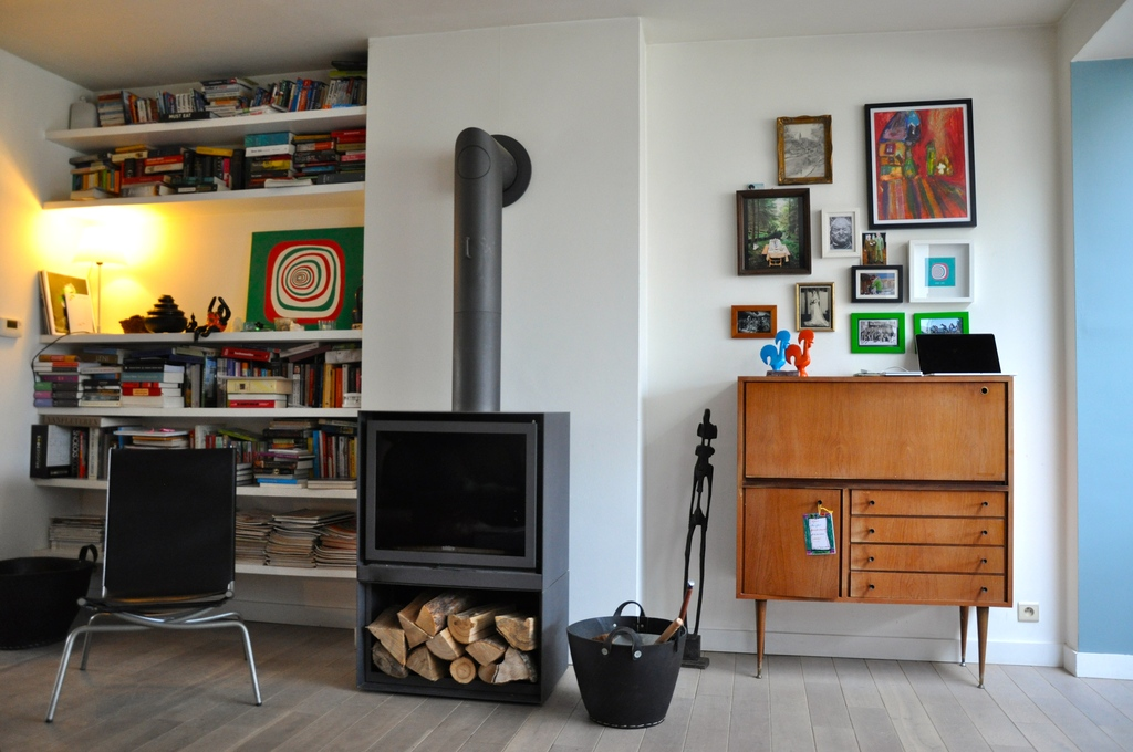 Ground floor with woodstove
