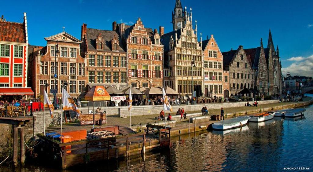 Beautiful city of Ghent (at about 20 km).