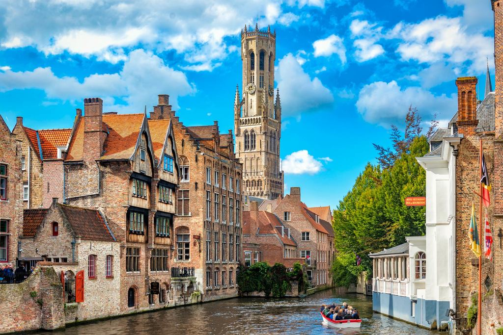 City of Bruges (at about 50 km).