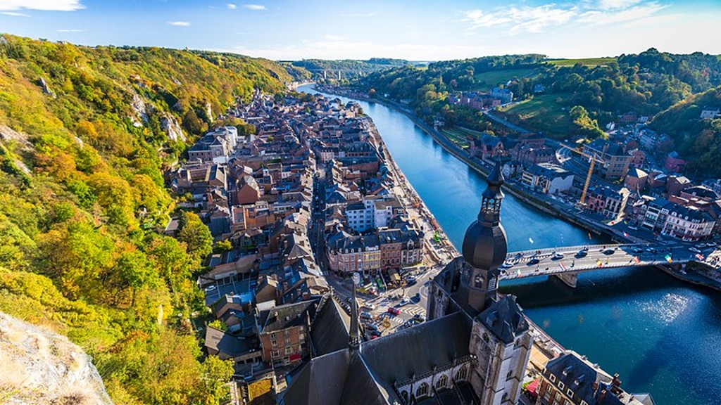 Dinant - city in the French speaking part of Belgium