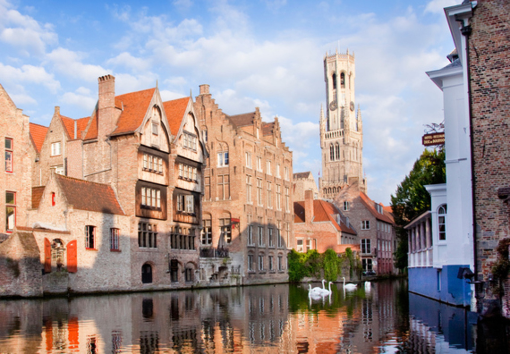 Bruges, where you can go on a cruise on its famous romantic canals