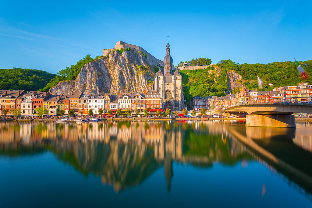 View of Dinant, another city along the Meuse river