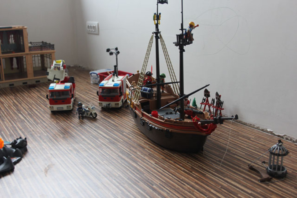 playroom with playmobil