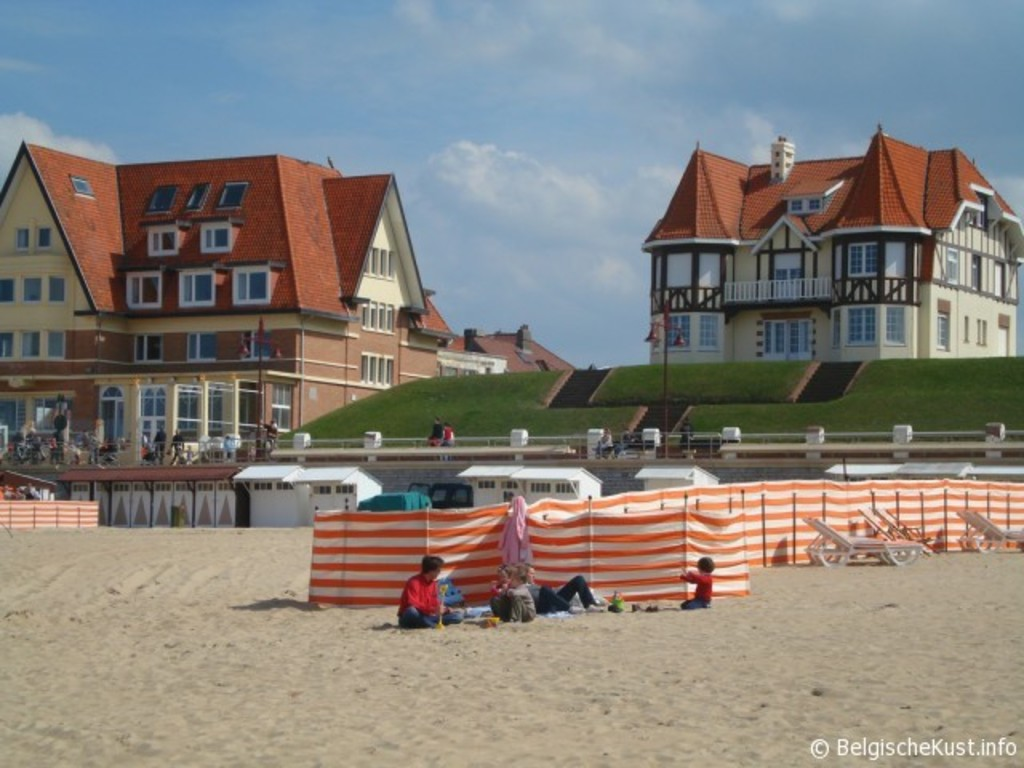 Beach town of De Haan, 20km from our house, known for its Belle Epoque houses