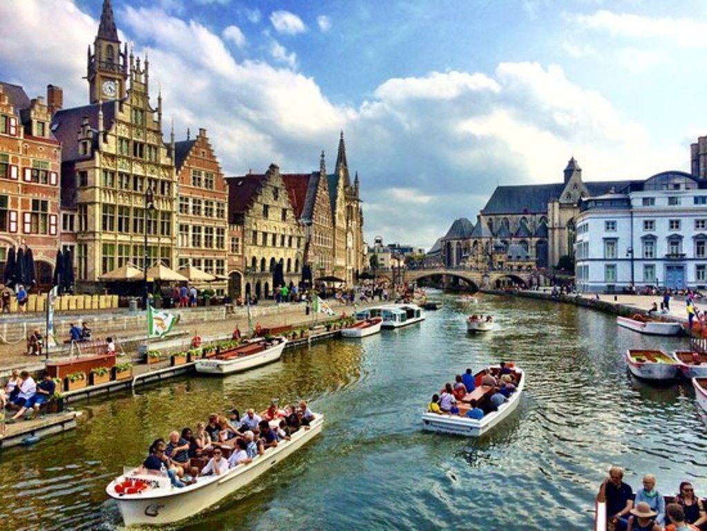 Canals in Ghent (half hour from Bruges)