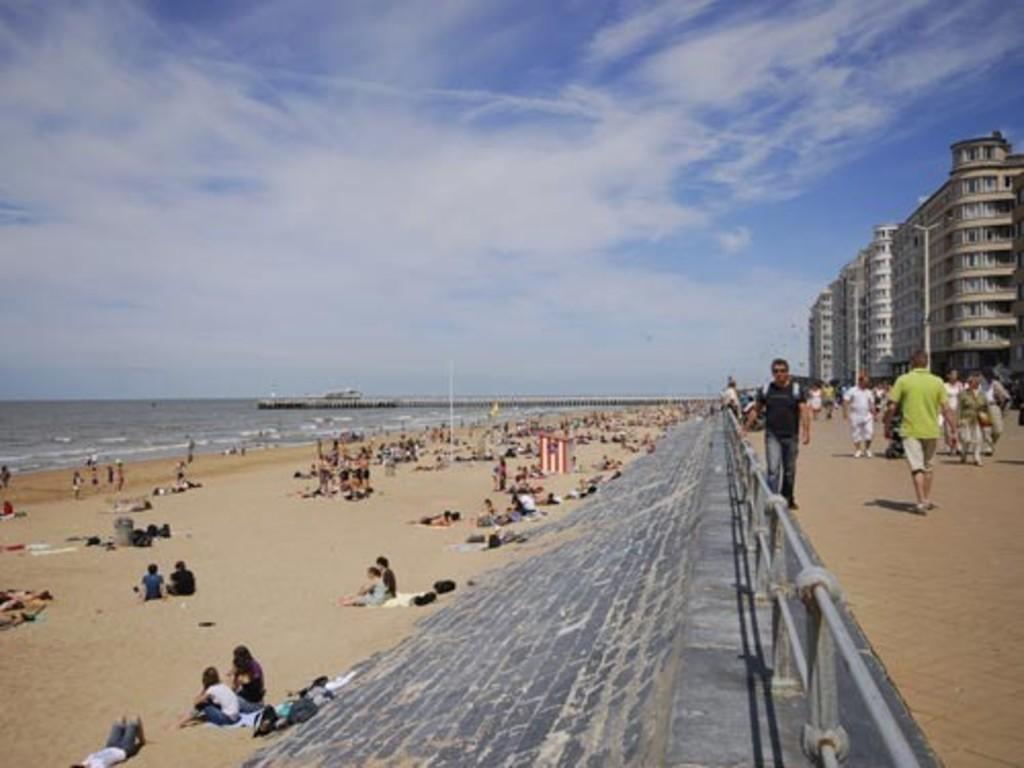 Belgian coastline, ideal for a leisurely stroll or bathing