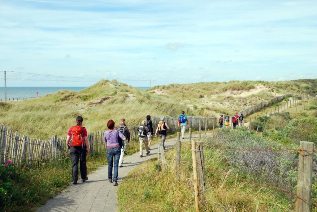 Dunes at the Belgian coast, make for some nice hiking