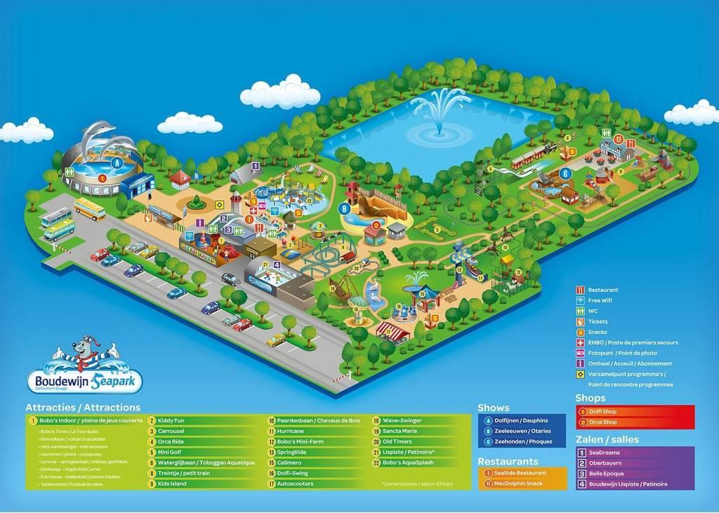 Boudewijn Seapark, amusement park close to Bruges (10 min drive)