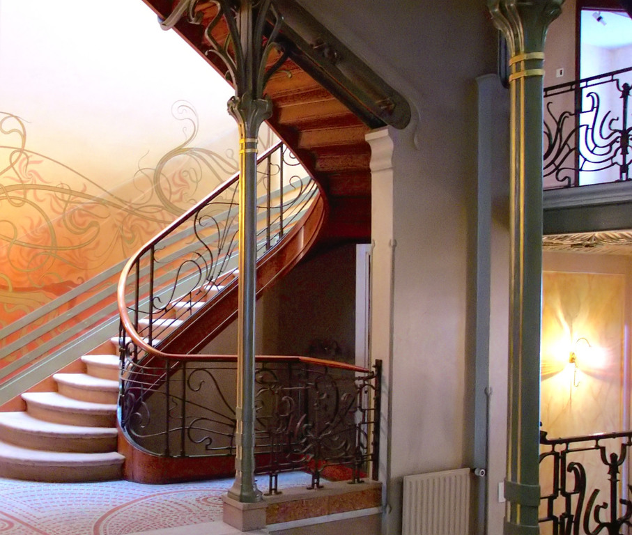 Horta architecture in Brussels, birthplace of art nouveau