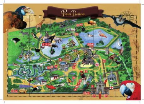 the famous zoo Pairi Daiza