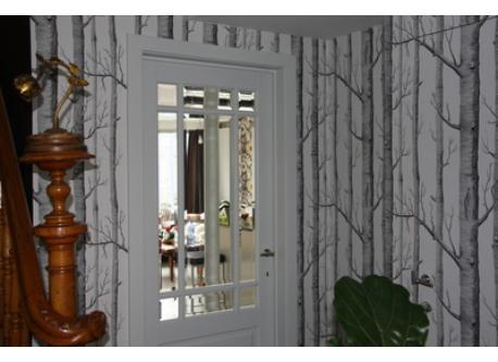 Hallway door to the kitchen and living room