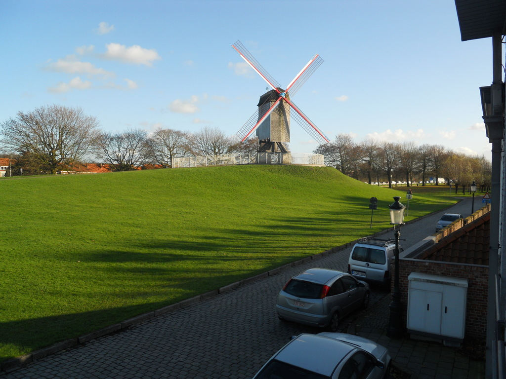 View from our house upon the windmills and grass zones.