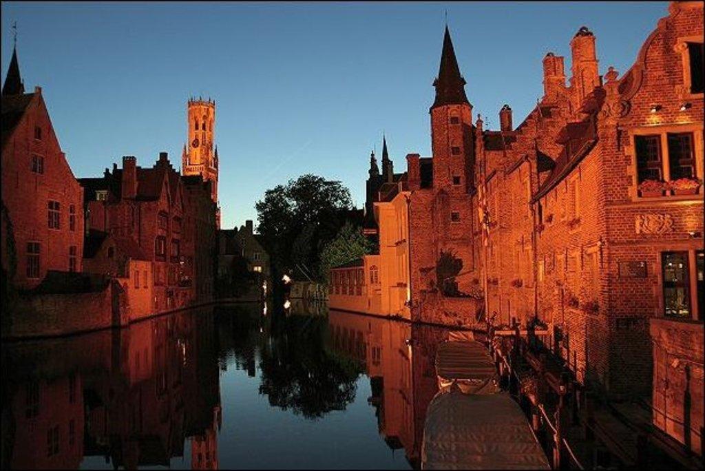 Bruges, canals and belfry