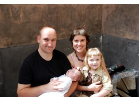 our family in 2008 (Sandrino, Manon, Kaat & Ward)