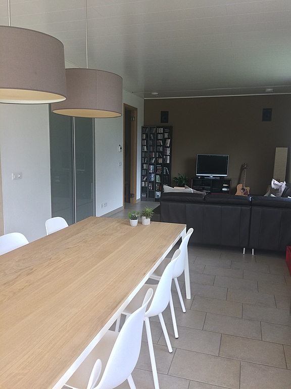 Dining table and sitting area