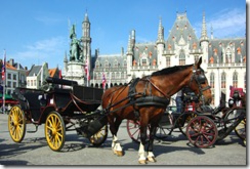 explore Bruges by horse and carriage as in the Middle Ages