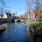 Minnewaterpark in the centre of Bruges with its famous white swans