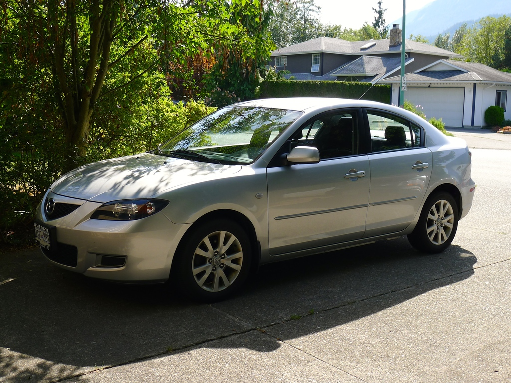 Our car is a 2008 Mazda 3 with a 5 speed manual gearshift.