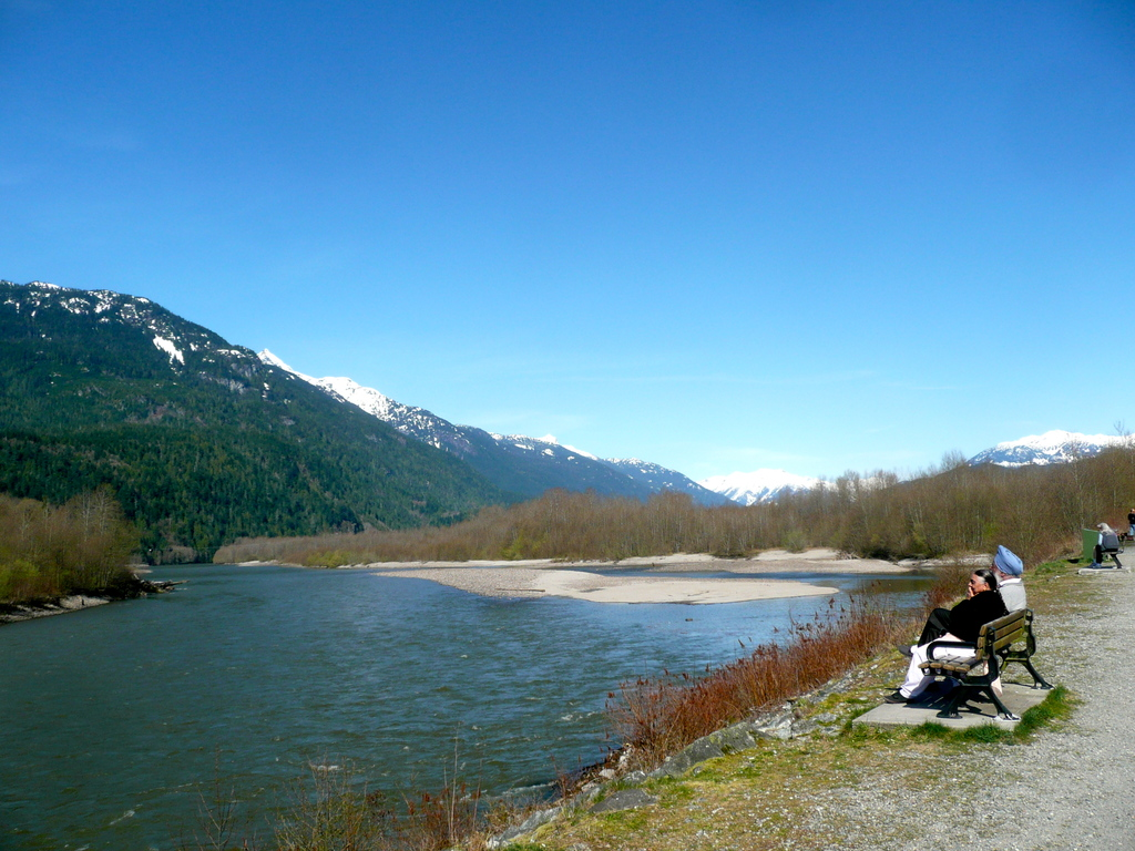 The Squamish River is a 5 minute walk from our house.