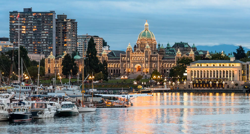 Downtown Victoria - a seaside city.