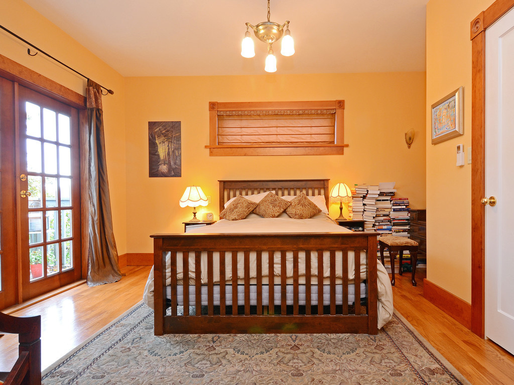 Master bedroom is spacious with French doors, balcony, air conditioned.