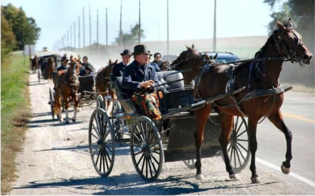 Many nearby farms are settled by Old Order Mennonites