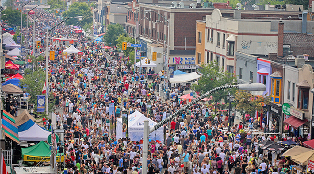 The Danforth is our nearest commercial street and home to Toronto's Greektown.  The picture is from Taste of the Danforth, a ...