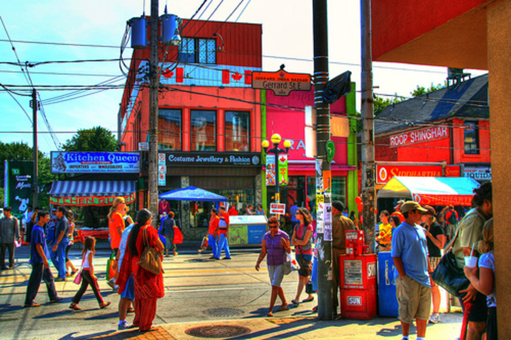 Toronto is a truly international city.  The city's Indian Bazaar is located less than 2km from our house.