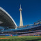 Rogers Centre is the home of Toronto's baseball team, the Blue Jays.  They're terrific!