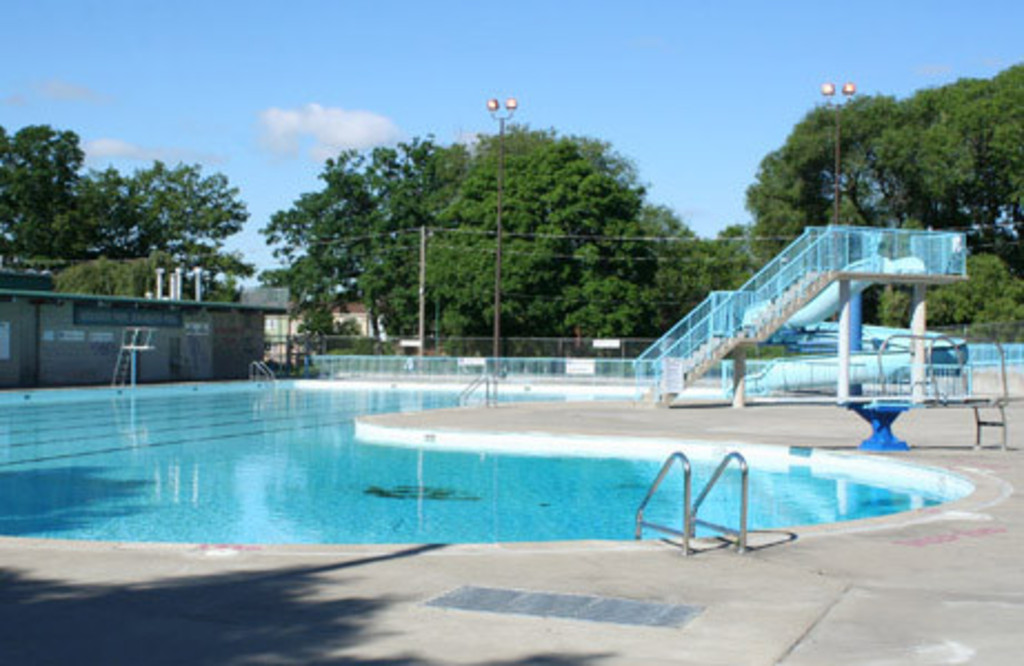 Monarch Park is a large public park with a range of facilities, including this outdoor public pool (free!), about a 5 minute ...