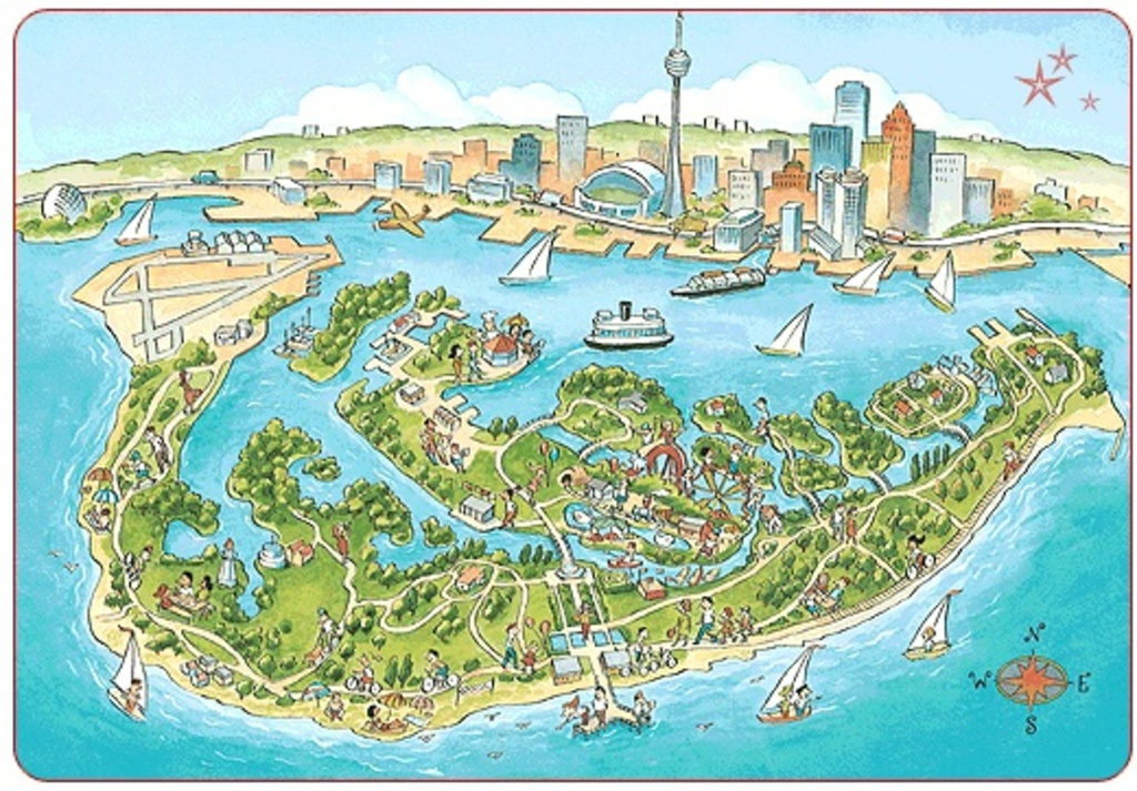 Toronto Island is a very short ferry ride from the downtown waterfront.  The island has an amusement park, a beach and is a g...