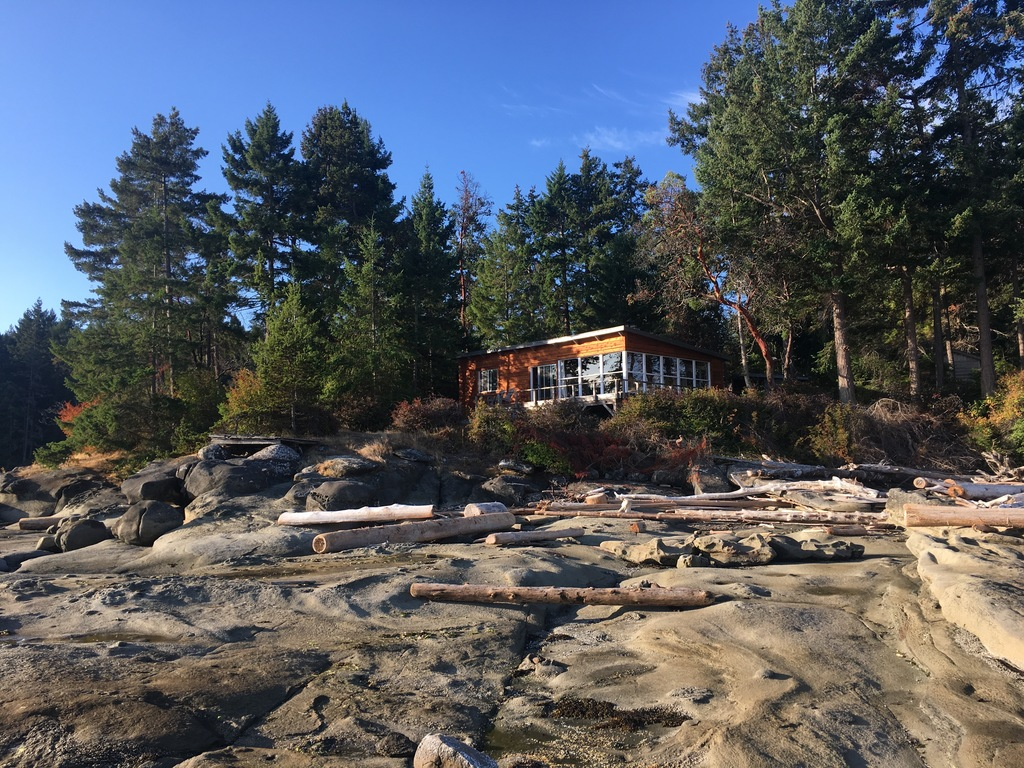 Cabin on Gabriola from the waterfront
