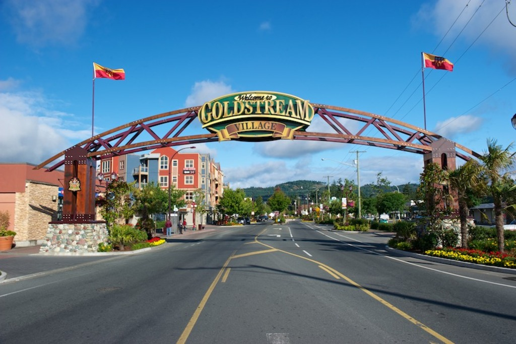 Goldstream Avenue in the heart of the community of Langford