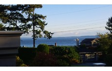 Ocean view from front deck of house