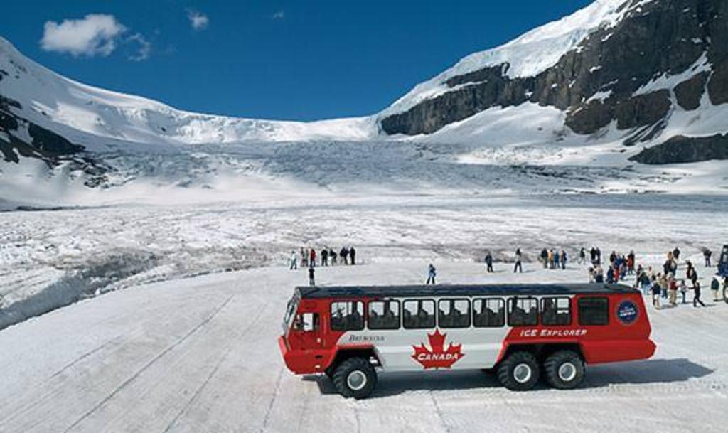 Columbia Icefields tour, Jasper - yup, that's a glacier!