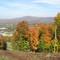 La montagne de Bromont à l'automne (à 5 minutes de marche de la maison)