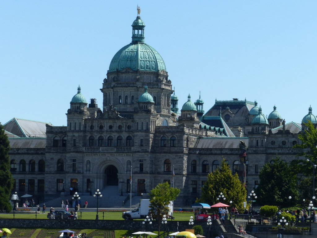 Parliament Buildings.  Victoria Inner Harbour.