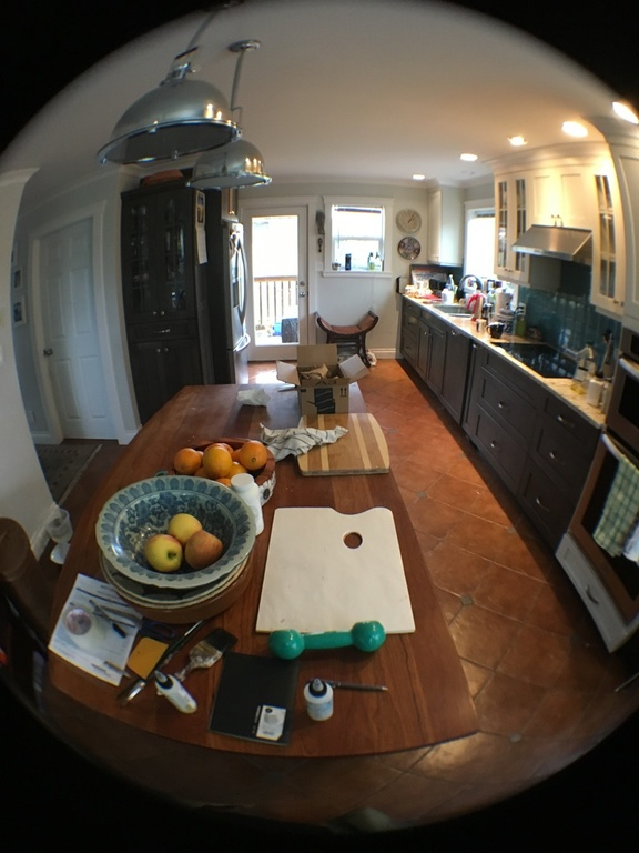 Fisheye view of kitchen