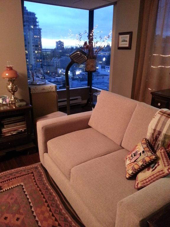 Living room with alcove