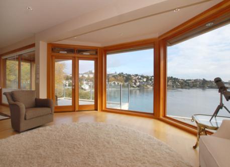 View to main floor deck