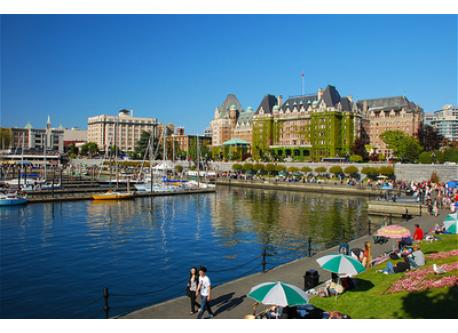 Victoria Harbour and Empress Hotel