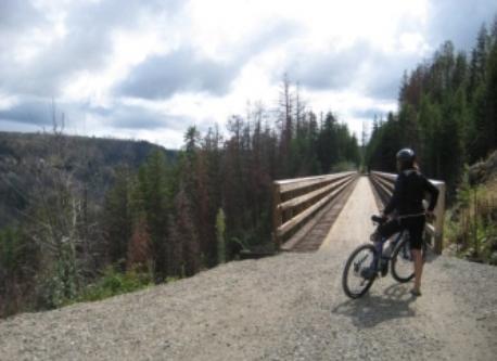 riding the Myra Canyon Trestles