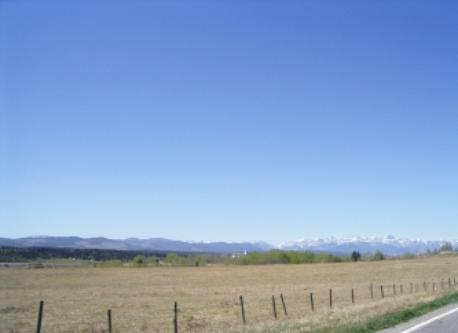 Prairie view of the Rocky Mountains
