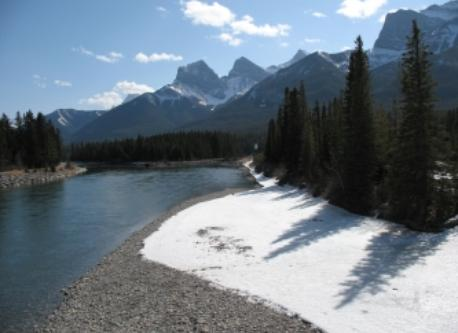 Bow River, 1 minute walk from the Canmore property
