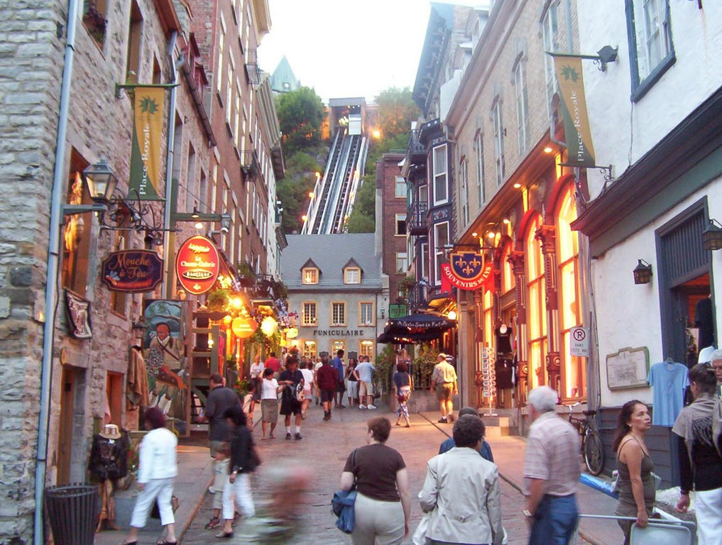 UNESCO site of Quebec city (3 1/2 hrs from Montreal)
