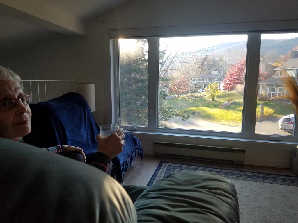 Mezzanine avec vue vers le Mont Sainte-Anne